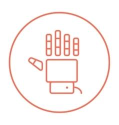 Robot hand line icon vector