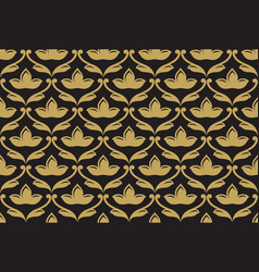 Seamless ethnic floral pattern vector