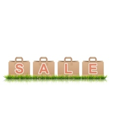 Shopping Bags With SALE Letters vector