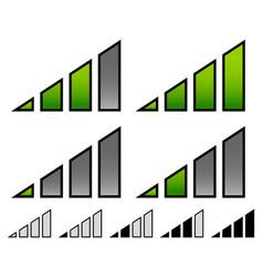 Signal stength indicator set internet wi-fi vector