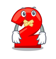 Silent number two red isolated on mascot vector