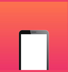 Smartphone copyspace on orange background vector