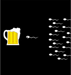 Sperm and beer vector image