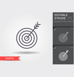target icon line icon with editable stroke with vector image