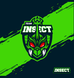 team insect badge mascot template vector image