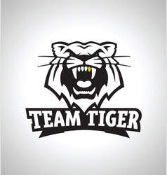 Team tiger sports logo icon vector