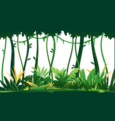 Tropical rainforest on white background vector