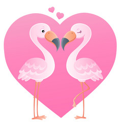valentine flamingos topic image 4 vector image