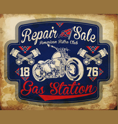 Vintage gasoline retro signs and labels gas vector