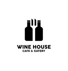 wine house logo design inspiration vector image