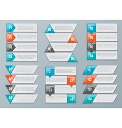 Arrows options for diagram graph chart vector image