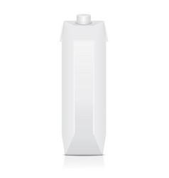 carton pack mock up for juice milk vector image