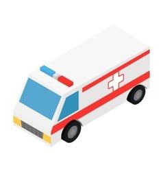 Ambulance isometric 3d icon vector image