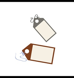 Blank price tag vector image vector image