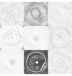 Collection of Backgrounds Tree Rings vector image