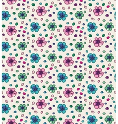 Funny colorful seamless pattern with flowers vector image vector image