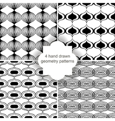 hand drawn geometry patterns vector image vector image