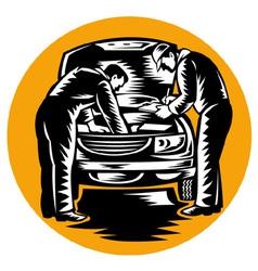 auto mechanic worker car repair vector image vector image