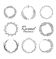 Branch with leaves laurel wreath floral circle vector image