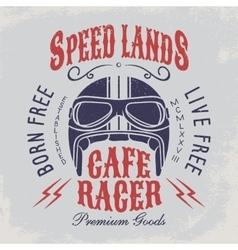 Cafe racer t-shirt print vector image