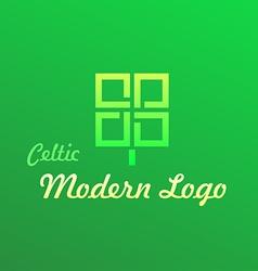 Irish Celtic Modern Logotype vector image vector image