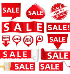 Red Sale Banners vector image vector image