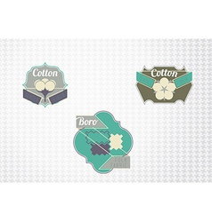 Textile fiber set vector image vector image