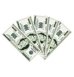 five hundred dollar bills vector image