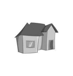 One storey residential house icon vector image vector image