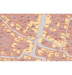 Parcel map vector