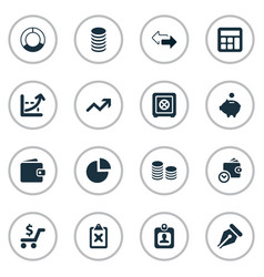 set of simple investment icons vector image vector image