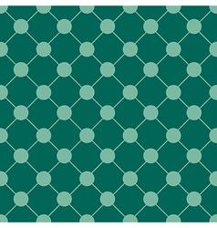 Teal Green Polka dot Chess Board Grid vector image