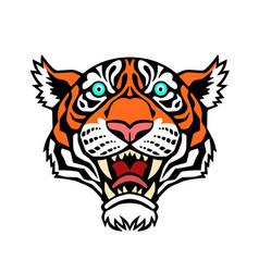 a tiger head vector image