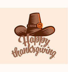 A vintage hat for thanksgiving vector