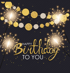Abstract happy birthday background card template vector