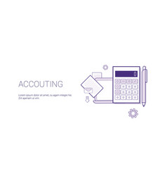 Accounting web banner with copy space business vector