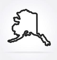 Alaska ak state shape outline simplified vector