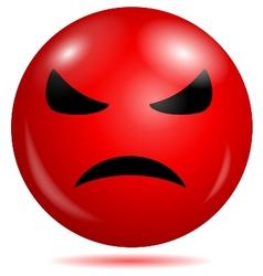 Angry smiley emoticon vector