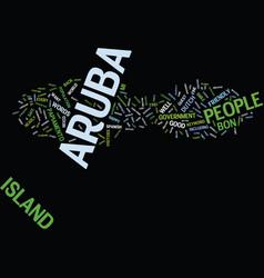 aruba people text background word cloud concept vector image