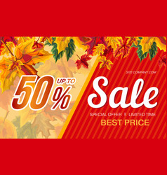 banner with special offer of autumn sale vector image