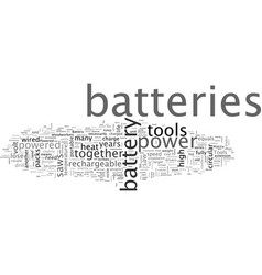 Battery powered tools how to get most from vector