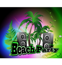 Beach party backgrpund vector