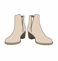 Beige boots vector