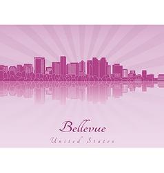 Bellevue skyline in purple radiant orchid vector
