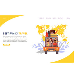 best family travel website landing page vector image