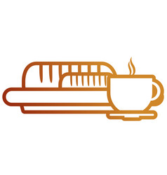 bread with coffee vector image