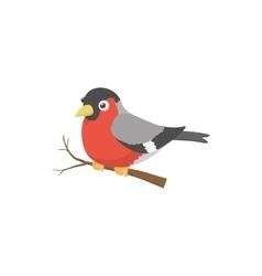 Bullfinch bird icon cartoon style vector image