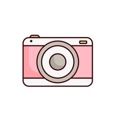 camera icon photho vector image