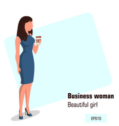 character beautiful business woman 10 vector image