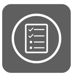 Checklist Page Flat Squared Icon vector